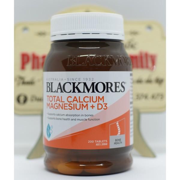 Viên Uống Bổ Sung Canxi Magie Vitamin D3 [Úc] Blackmores Total Calcium Magnesium + D3 - Tăng Chiều Cao 200 Viên nhập khẩu