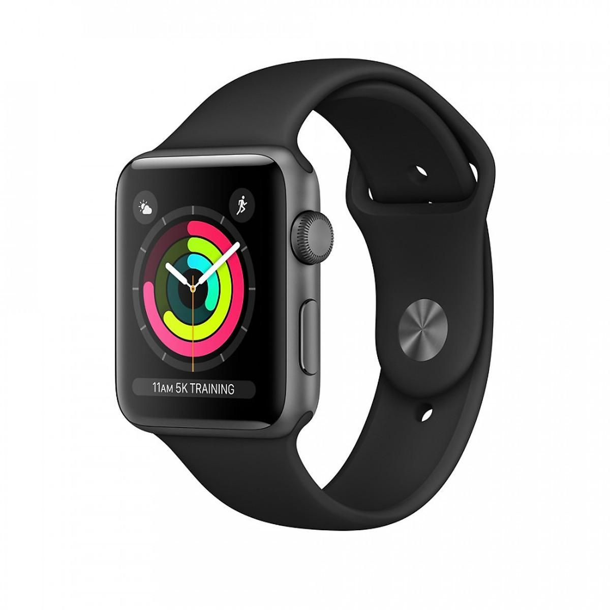 Đồng Hồ Thông Minh Apple Watch Series 3 GPS Aluminum Case With Sport Band - Nhập Khẩu