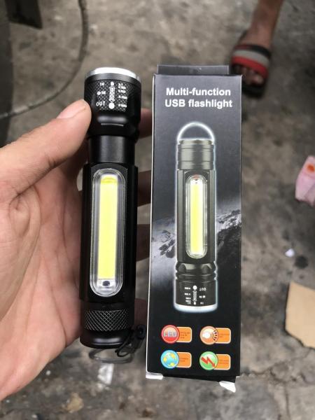 (HÀNG ĐỘC QUYỀN) Đèn pin nhật bản - Đèn pin mini đa năng bóng Q5L siêu sáng có đèn trên thân , Chế độ sạc USB Zoom LED - cầm tay ,gắn xe máy ,xe đạp...