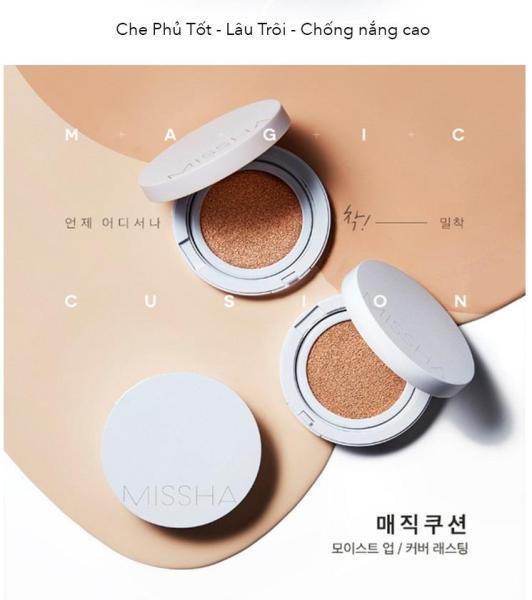 Phấn Nước siêu kềm dầu che phủ tốt Missha M Magic Cushion Cover SPF50+ Pa+++