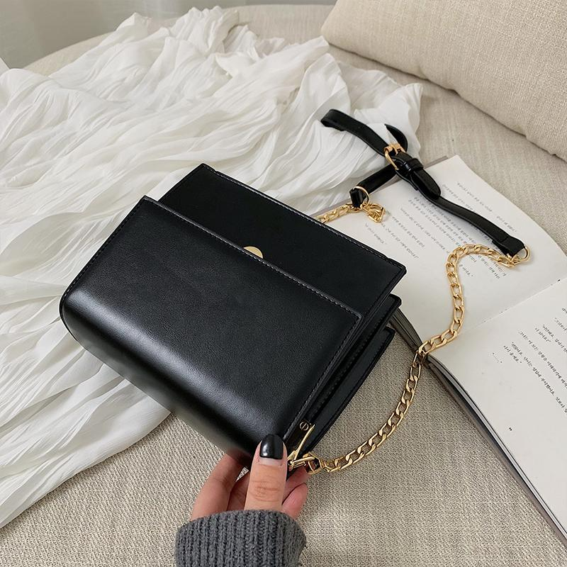 Elegant Western Style Bags Female 2019 New Style Korean Style Fashion Leisure Simple Versatile Chain Shoulder Square Sling Bag
