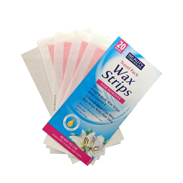Miếng Dán Tẩy Lông Du Lịch Beauty Formulas Wax Strips Travel pack (hộp 20 lần dán)