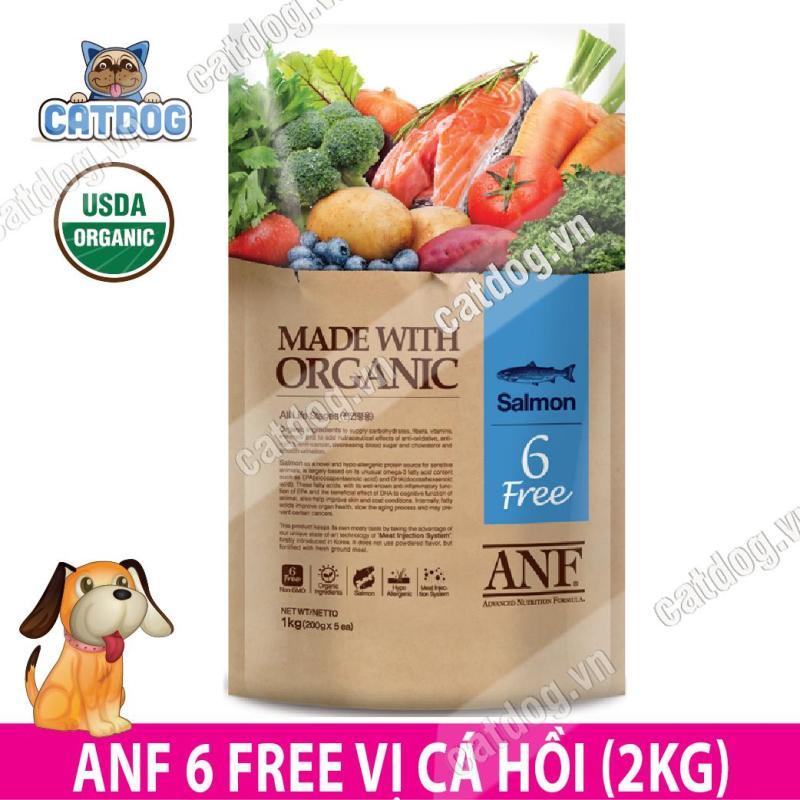 Hạt ANF 6 Free Organic vị cá hồi 2kg (Chó)