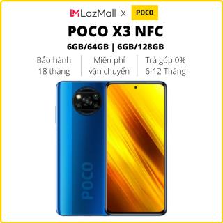 Điện thoại POCO X3 NFC (6GB/64GB   6GB/128GB) - Hàng chính hãng DGW - Bảo hành 18 tháng - Trả góp 0%