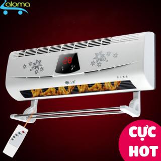 Máy sưởi gốm hiển thị nhiệt độ DILIPU BPT-4502 kèm điều khiển từ xa để bàn hoặc treo tường phòng tắm phòng ngủ không đốt cháy Oxy không khô rát da thumbnail
