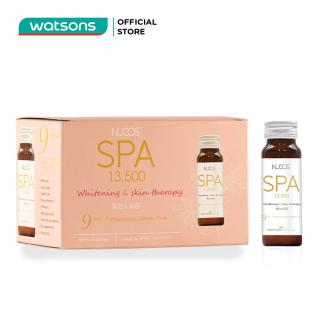 Thực Phẩm Bảo Vệ Sức Khỏe Nucos Spa 13,500mg Whitening & Skin Therapy Giúp Sáng Da 50ml x 10 Chai thumbnail