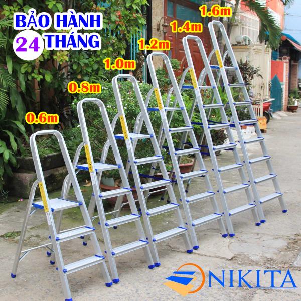 Thang nhôm ghế 3 bậc, 4 bậc, 5 bậc, 6 bậc, 7 bậc, 8 bậc Nikita Mã sản phẩm: al03, al04, al05, al06, al07, al08 tải trọng 150kgNikita Siêu nhẹ