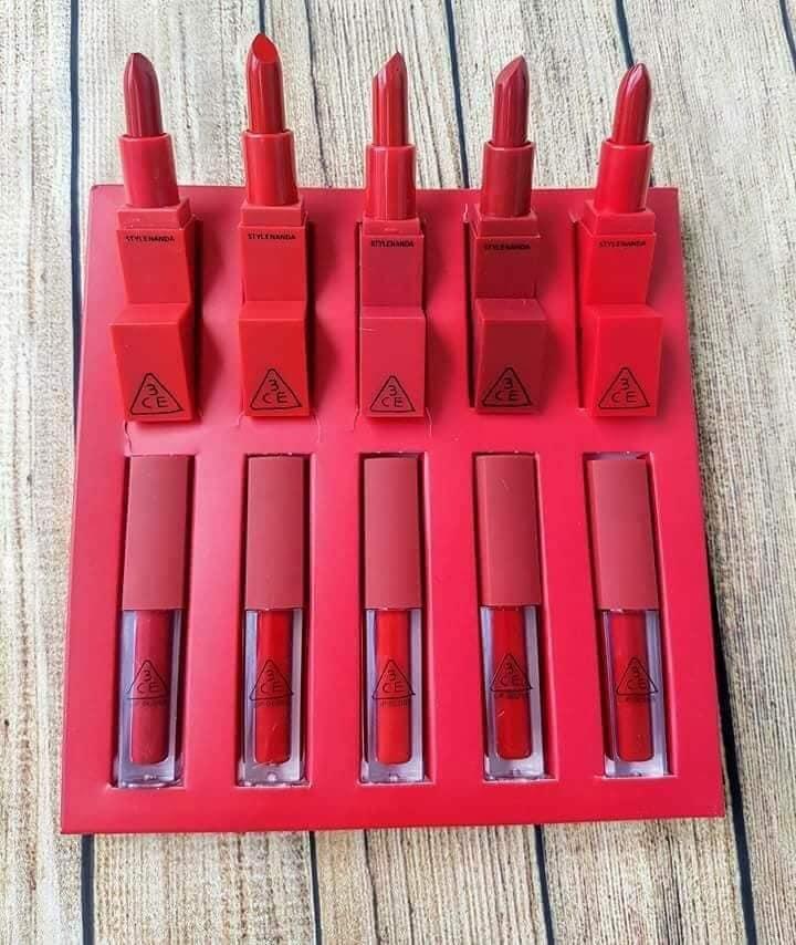 set 10 cây SON GỒM 5 sap 5 cây màu đỏ sang chảnh tốt nhất