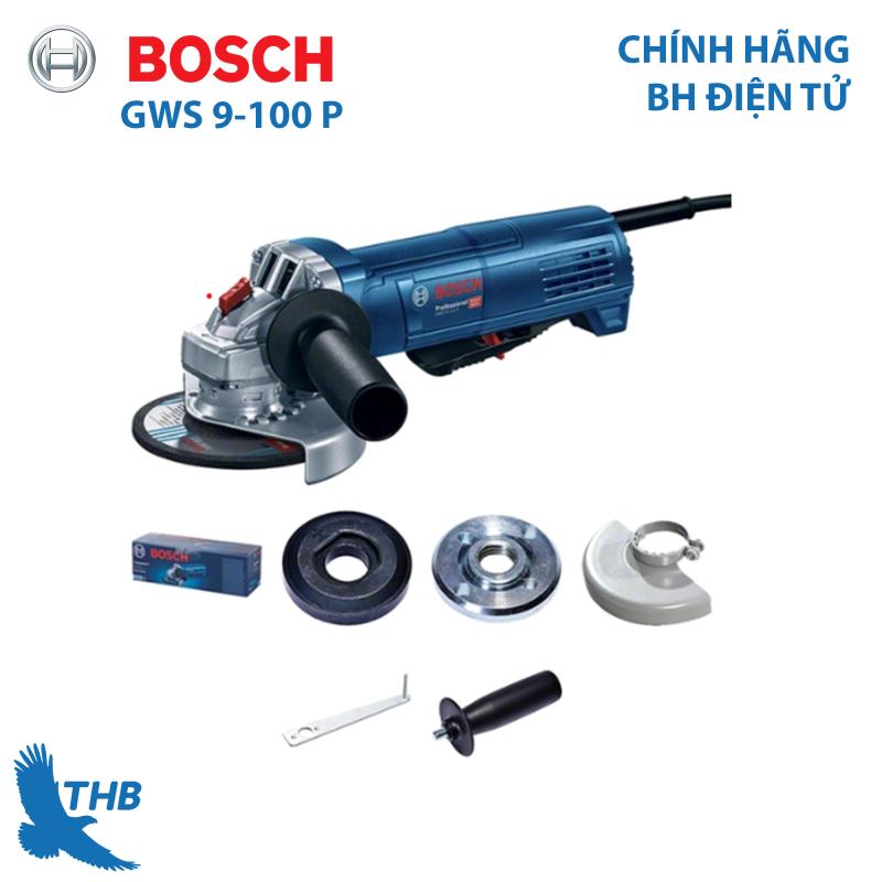 Máy mài góc Bosch GWS 9-100P Heavy Duty Công tắc báo mức kiểu cánh xoay 900 W SAG cho khả năng điều khiển vượt trội về độ an toàn và hoạt động
