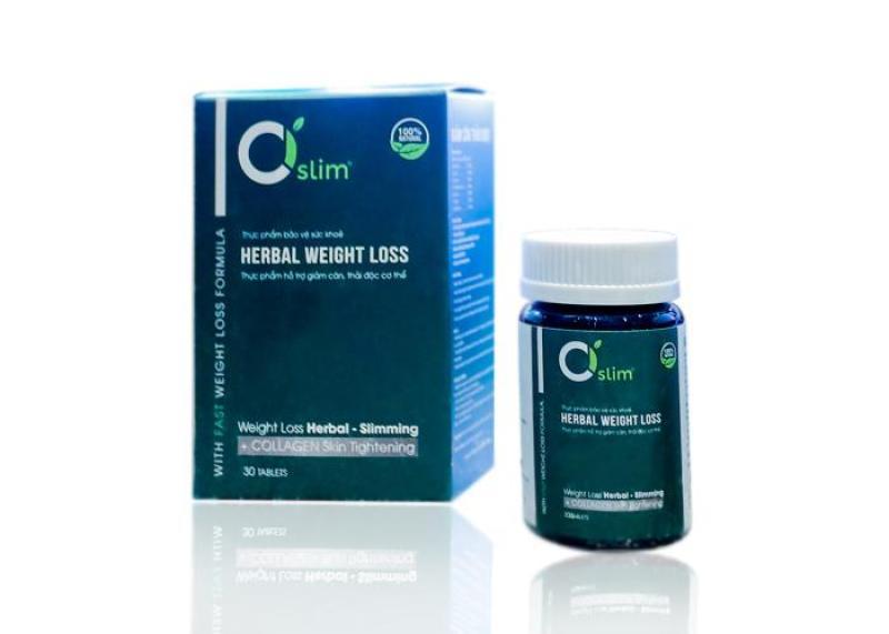 Herbar weight loss -  Giảm cân thảo dược Ciorganic Cisim - 1 hộp 30 viên cao cấp