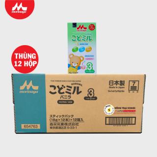 [Thùng 12 hộp] Sữa Morinaga Số 3 Kodomil Nhật Bản vị Vani 216g Dành cho bé trên 03 tuổi HSD 24 12 2021 thumbnail