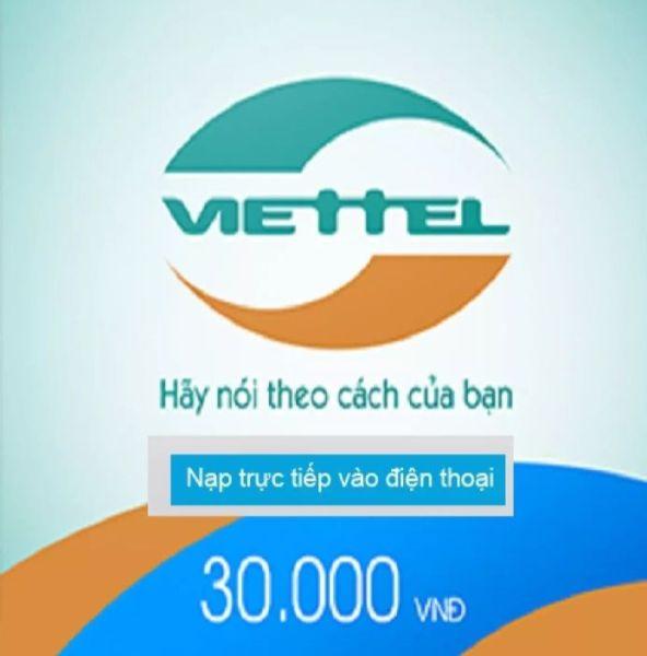thẻ cào điện thoại 30k Viettel