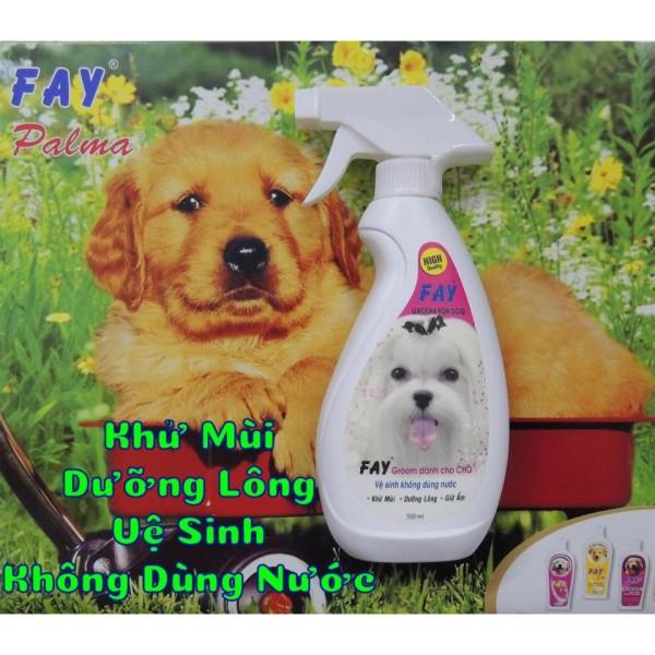 Tắm khô dạng xịt Fay 350ml chó và mèo - Dành cho mèo