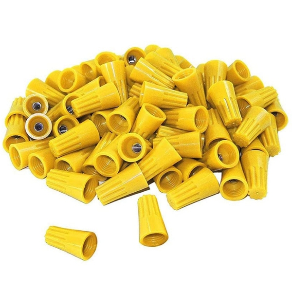 500 Pieces Of Yellow Electrical Wire Nuts-Twisted Wire Connectors, Insulated Wire Caps for Quick Connection Of Wires