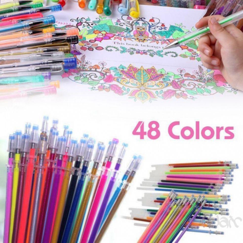 Mua Bộ 48 bút gel màu lấp lánh cực đẹp