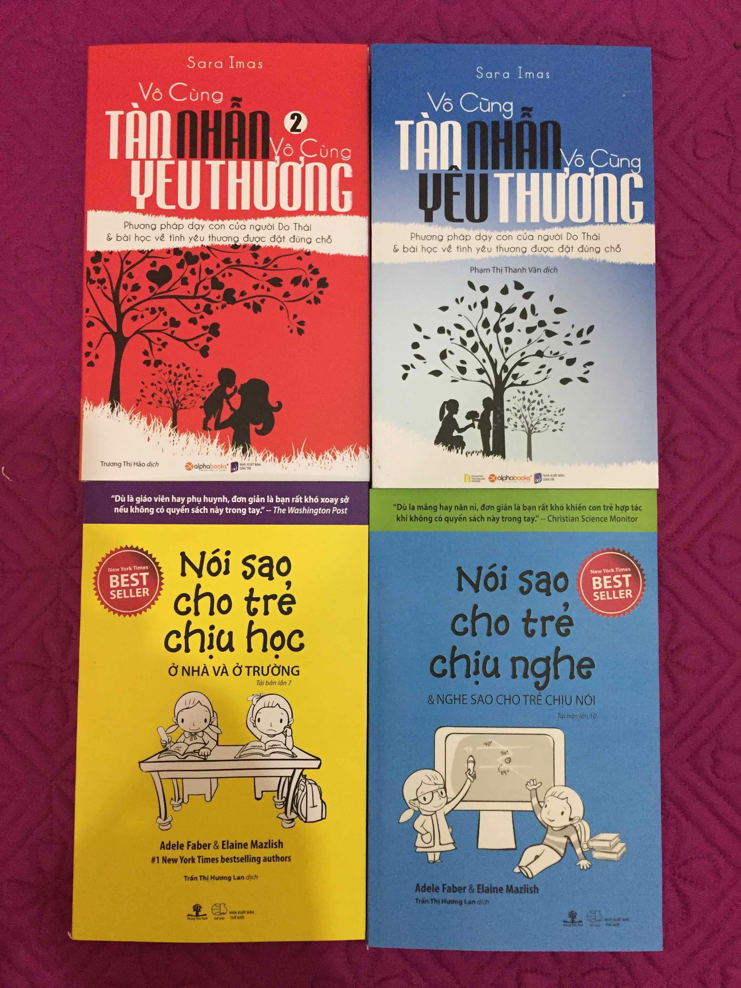 Combo 4 cuốn: Vô cùng tàn nhẫn vô cùng yêu thương (Bộ 2 cuốn), Nói sao cho trẻ chịu nghe & Nói sao cho trẻ chịu học Nhật Bản