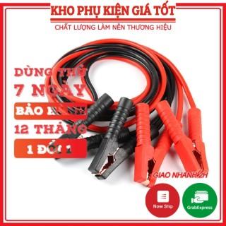 Dây câu bình ắc quy lõi đồng có kẹp cách điện 2000A 4 mét, dây câu cứu hộ ô tô bảo hành 12 tháng thumbnail