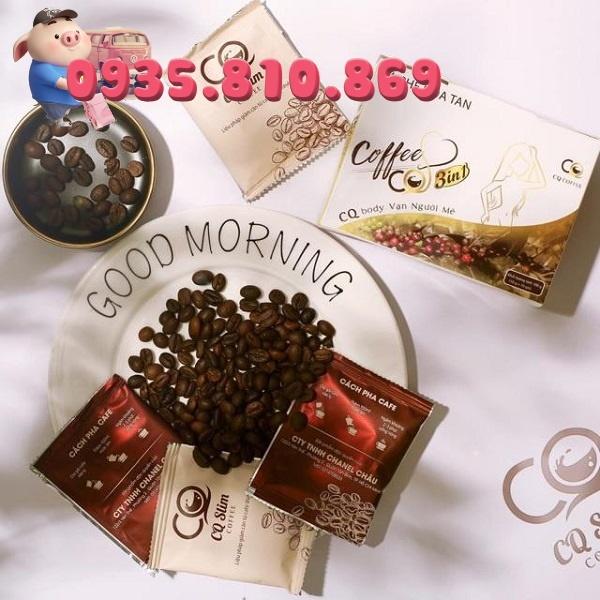 [ Giá Sỉ ] Cà Phê Giảm Cân CQ Slim Coffee, hộp 10 gói, hàng chính hãng