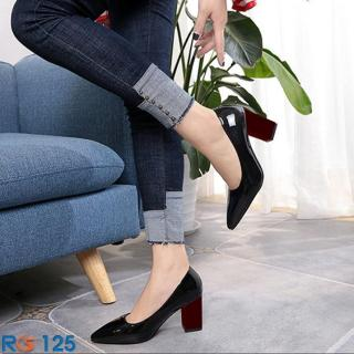 Giày cao gót nữ đẹp đế vuông hàng hiệu Rosata-nghịch màu RO125 thumbnail