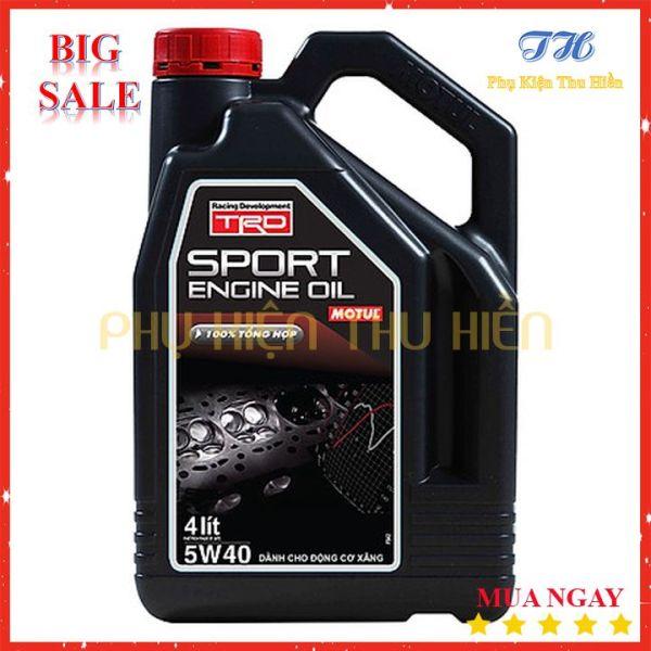 Nhớt Xe Hơi Motul TRD Sport Engine Oil 5W40 Gasoline 4X4L Bình 4 Lít - Hàng Chính Hãng