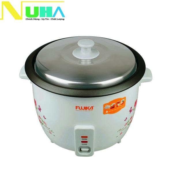 Nồi cơm điện nắp rời 1.5L Fujika FJ-NC1501 cho gia đình 2 - 8 người ăn, hoa văn ngẫu nhiên, bảo hành 12 tháng