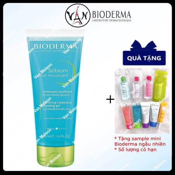 [HCM][ Tem chính hãng] Bioderma Sữa rửa mặt Bioderma Sébium Gel Moussant  dành cho da nhờn dầu và mụn 200ml