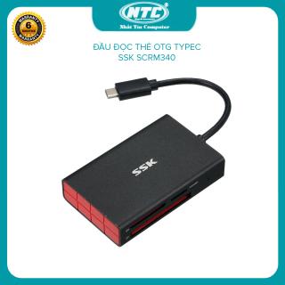 [HCM]Đầu đọc thẻ nhớ typeC 3.1 SSK SCRM340 - đọc thẻ TF SD CF (Đen) - Nhất Tín Computer thumbnail