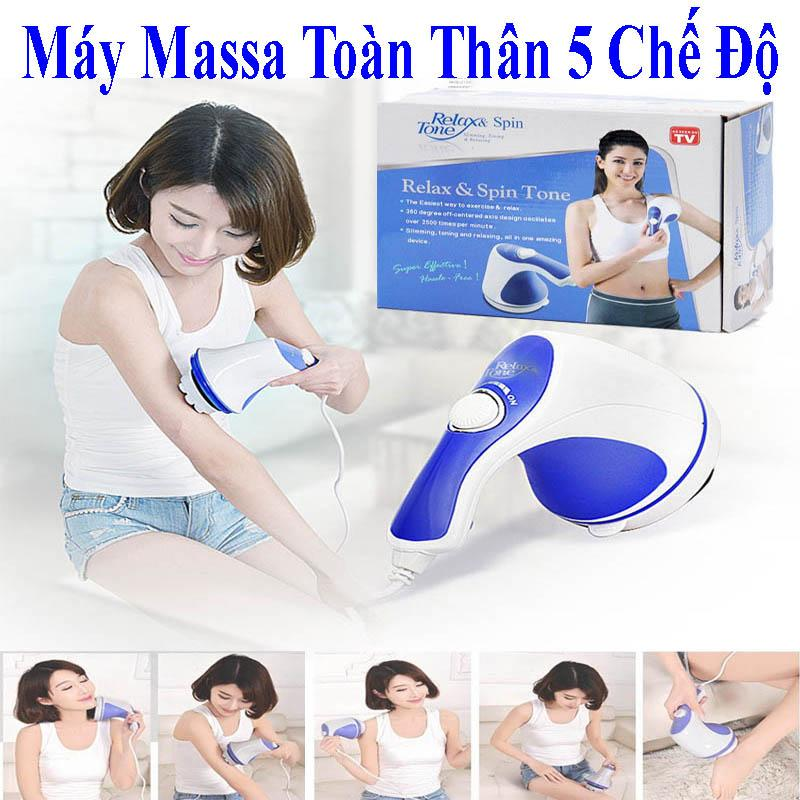 Máy Massage Rung_Massage Cầm Tay 5 Đầu Đánh (Relax) Cao Cấp Tiện Lợi Chất Lượng Vượt Trội Giảm Nhức Mỏi,Xả Trest Hiệu Quả.Giá Hấp Dẫn (-50%) Bh 1 Đổi 58 Mj629