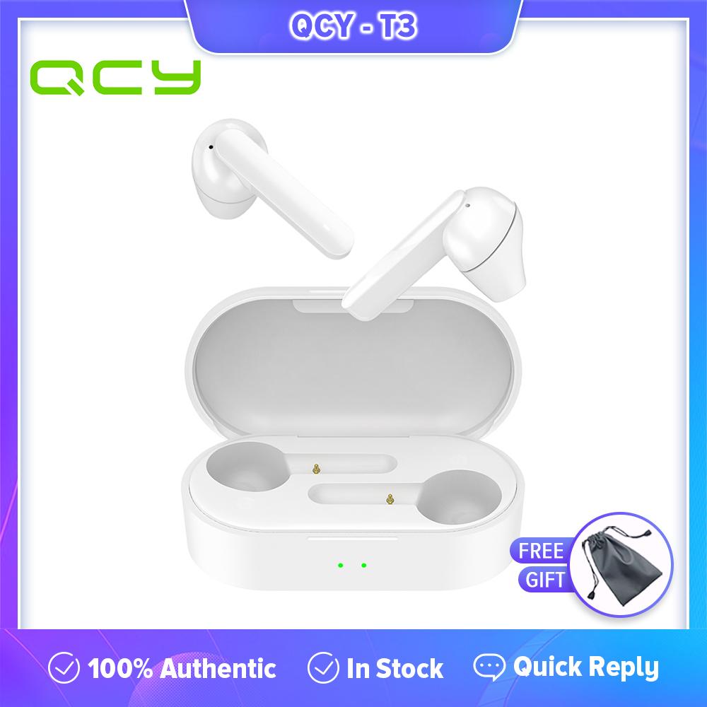 QCY T3 TWS Tai Nghe Nhét Tai Không Dây Điều Khiển Cảm Ứng Bluetooth V5.0 Tai Nghe Nhét Tai 3D...