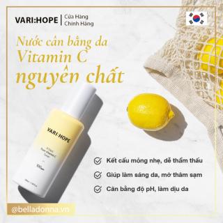 [HCM][CHÍNH HÃNG] Nước Hoa Hồng Làm Sáng Da Vari Hope 8 Days Pure Vitamin C Toner 100ml thumbnail
