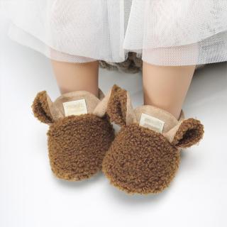 Giày Em Bé Sơ Sinh Đồ Chơi Cho Trẻ Sơ Sinh Giày Cotton Giày Đi Bộ Huấn Luyện Viên Dép Mùa Đông Giày Trong Nhà