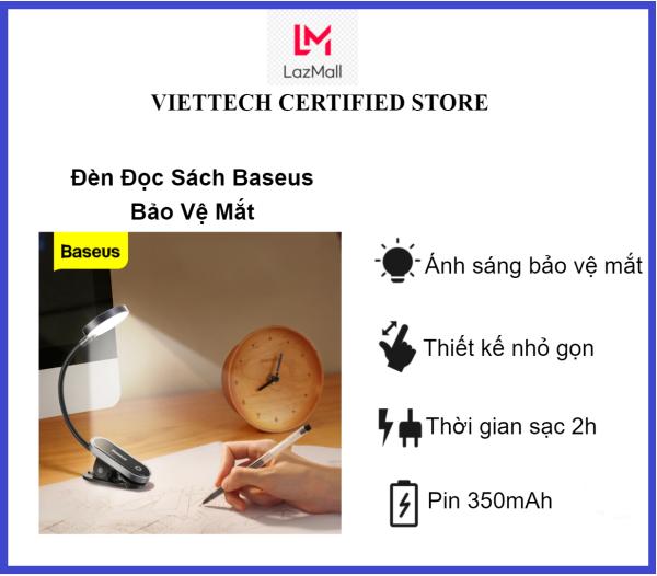 Bảng giá Baseus - Đèn đọc sách Bảo Vệ Mắt - Pin sạc tiện dụng Baseus Comfort Reading Mini Clip Lamp Phong Vũ