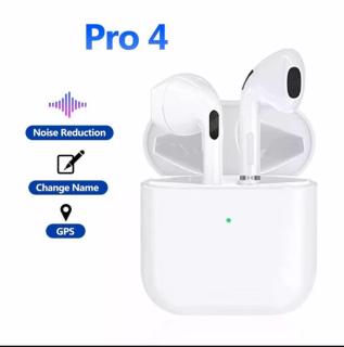 Tai nghe Bluetooth Pro4 Tai nghe Bluetooth PRO 4 với thiết kế nhỏ gọn, âm thanh chất lượng ,Tai nghe bluetooth Airpod Mini pro 4 Tai nghe Bluetooth Pro4 giảm tiếng ồn 5.0 , chống thấm mồ hôi, có míc đàm thoại 2 chiều , bảo hành 12th thumbnail