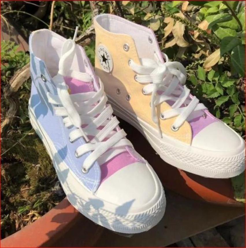 giày thể thao nữ cao cổ đổi màu khi ra nắng giá siêu sốc giá rẻ