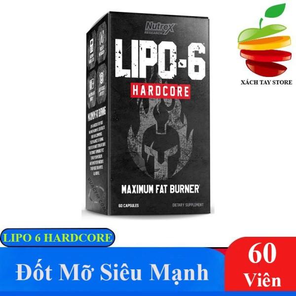 Viên Đốt Mỡ Mạnh Nhất Nutrex Lipo 6 Hardcore 60 Viên giá rẻ