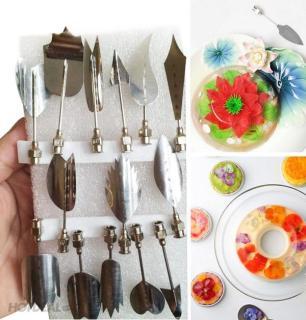 Bộ 10 Dụng Cụ Làm Thạch Rau Câu 3D Nghệ Thuật - Chất liệu inox- Màu sắc trắng bạc - Giúp bạn tạo ra những chiếc rau câu nghệ thuật và đẹp mắt. thumbnail