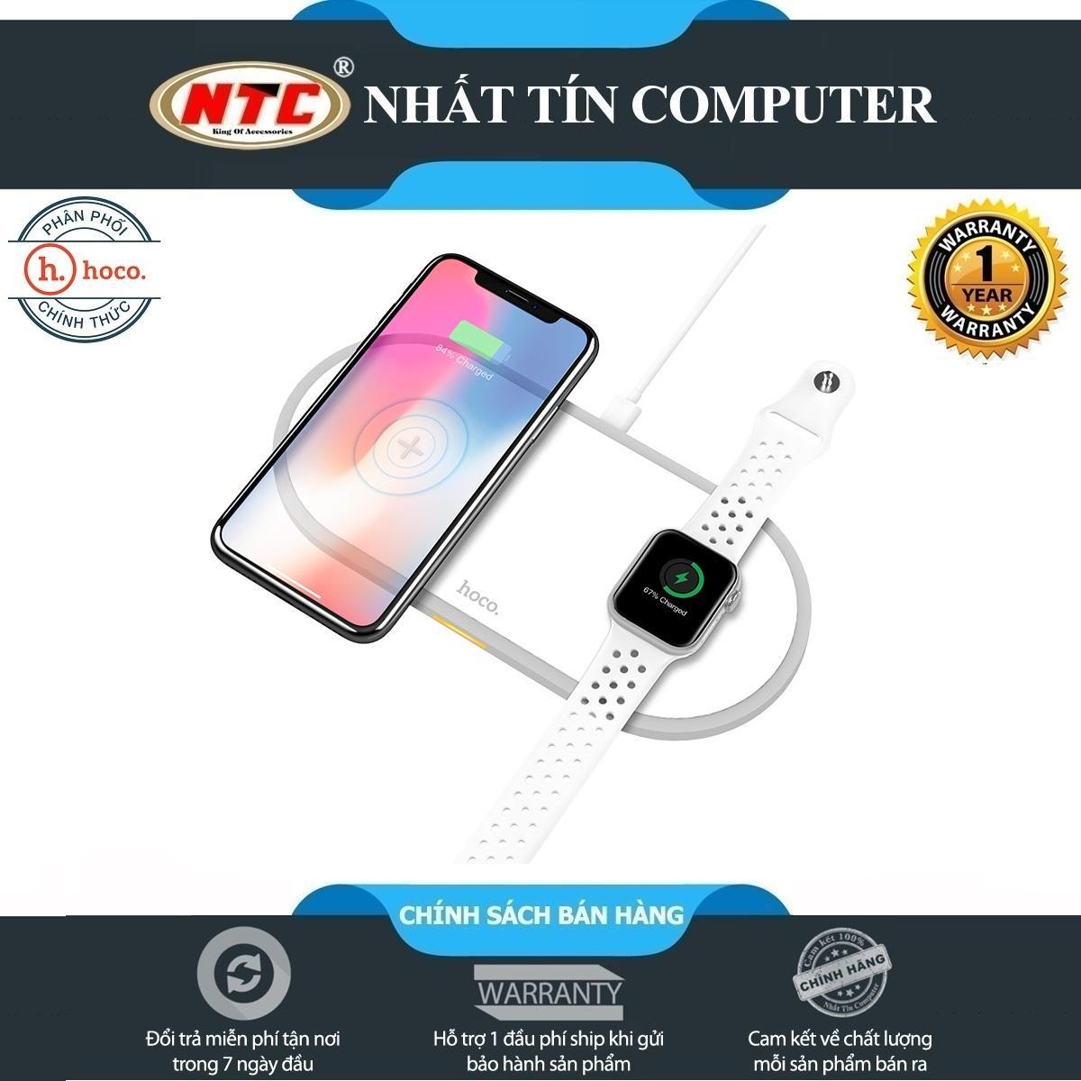 Đế sạc không dây đa năng 2in1 Hoco CW20 max 10W dành cho điện thoại / đồng  hồ thông minh - Hãng phân phối chính thức