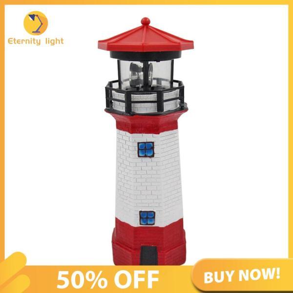 [50% OFF] Ngọn Hải Đăng Năng Lượng Mặt Trời LED Ánh Sáng Hàng Rào Vườn, Đèn Xoay Cảm Biến Thông Minh Ngoài Trời [Chuyển phát nhanh]
