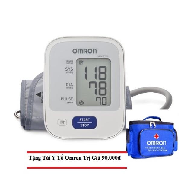 Nơi bán Máy đo huyết áp bắp tay Omron HEM-7121+ Tặng kèm túi y tế omron