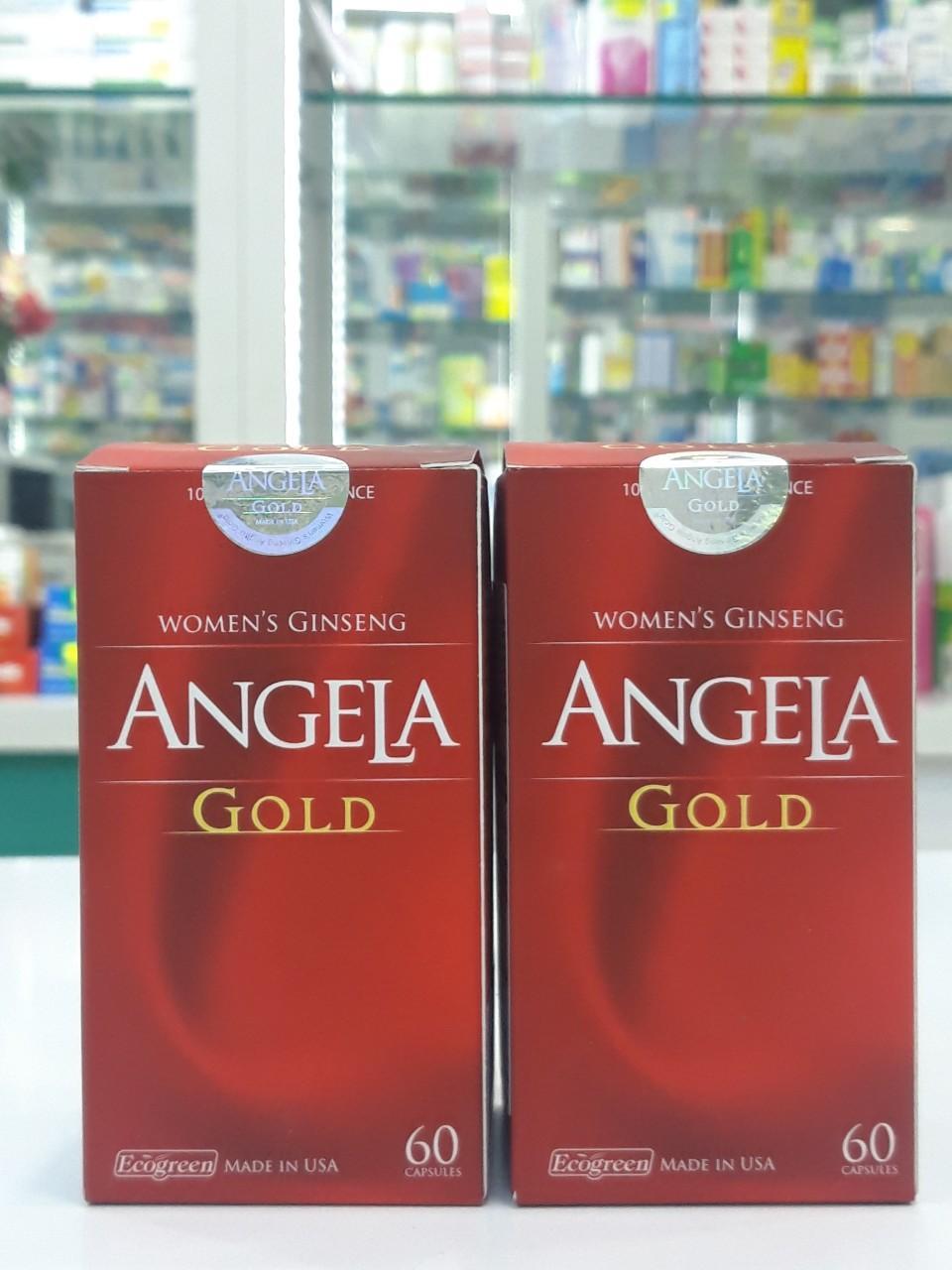 Sâm ANGELA GOLD ( hộp 60 viên) Amipharma nhập khẩu