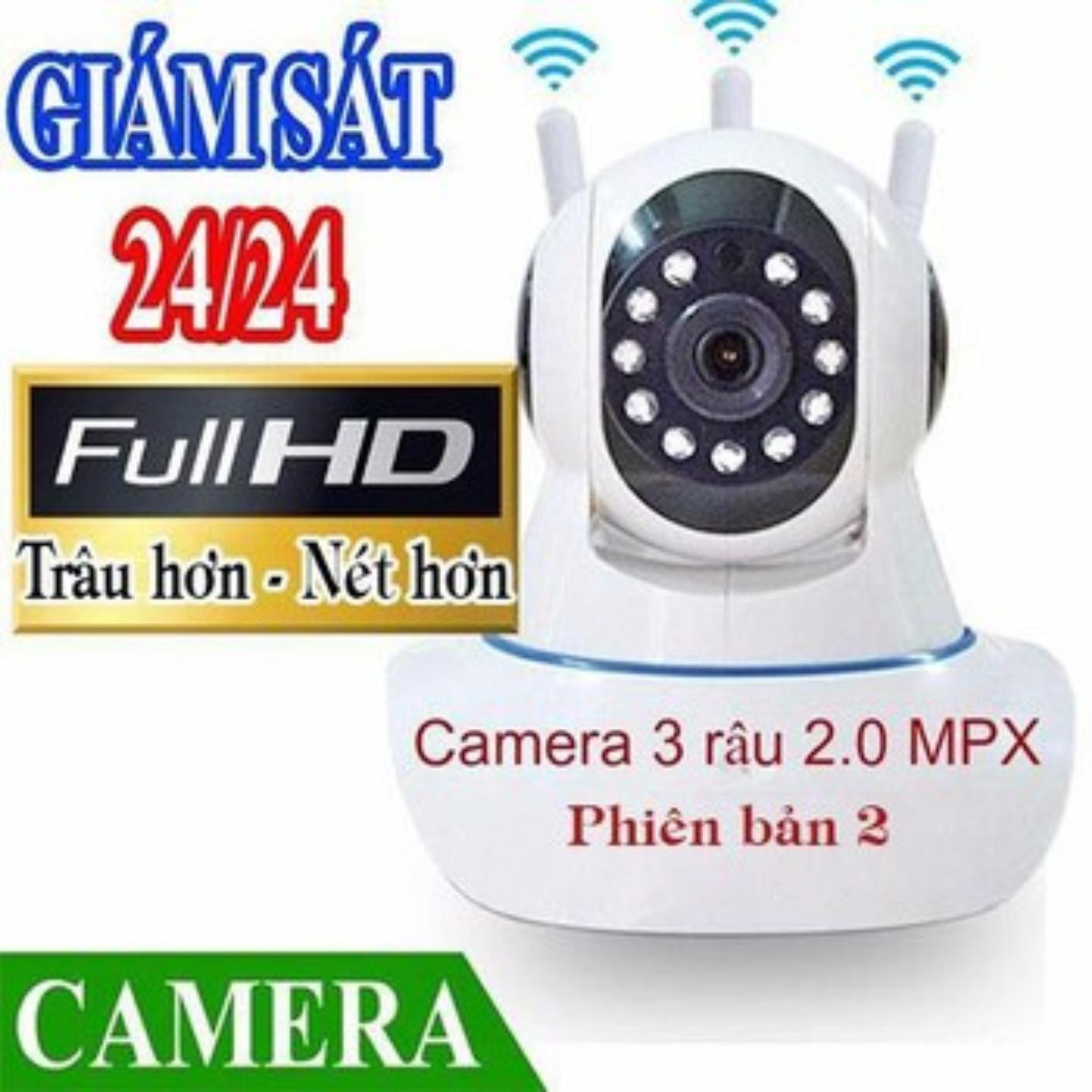 Camera Ip Wifi Yoosee 3 Râu Full Hd Không Dây Phiên Bản 2019 Xoay 360 Độ By Đồng Hồ Nam Nữ 686.