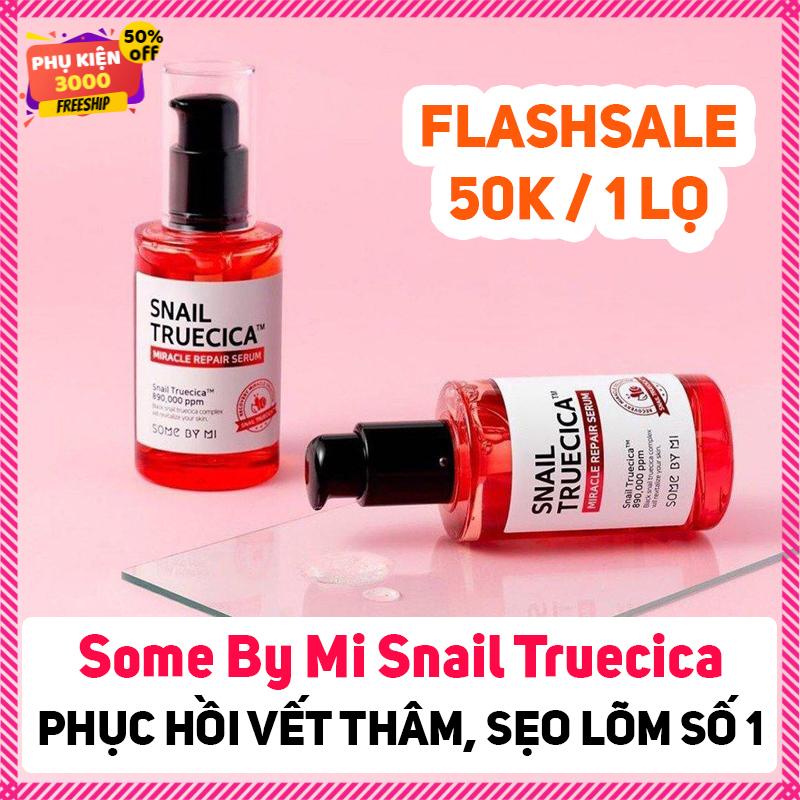 Serum tinh chất ốc sên Some By Mi Snail Truecica Miracle Repair Serum phục hồi da hiệu quả giúp phục hồi da vết thâm, vết sẹo nhanh - serum - serum duong da - serum gia re - serum han quoc