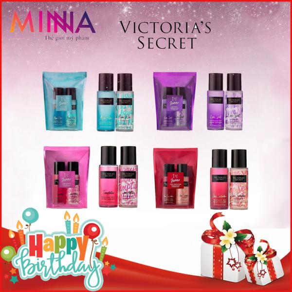 Set 2 Chai Xịt Thơm Body Victorias Secret I ❤️ Shimmer 75ml-Phiên bản đặc biệt có nhũ óng ánh