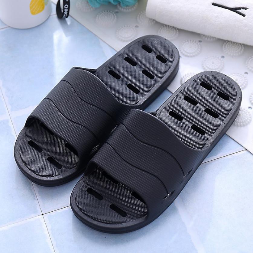 Dép nam nữ đi trong nhà/nhà tắm/văn phòng đúc nguyên khối giúp chống trơn trượt, chống thấm nước, đi lại dễ dàng giá rẻ
