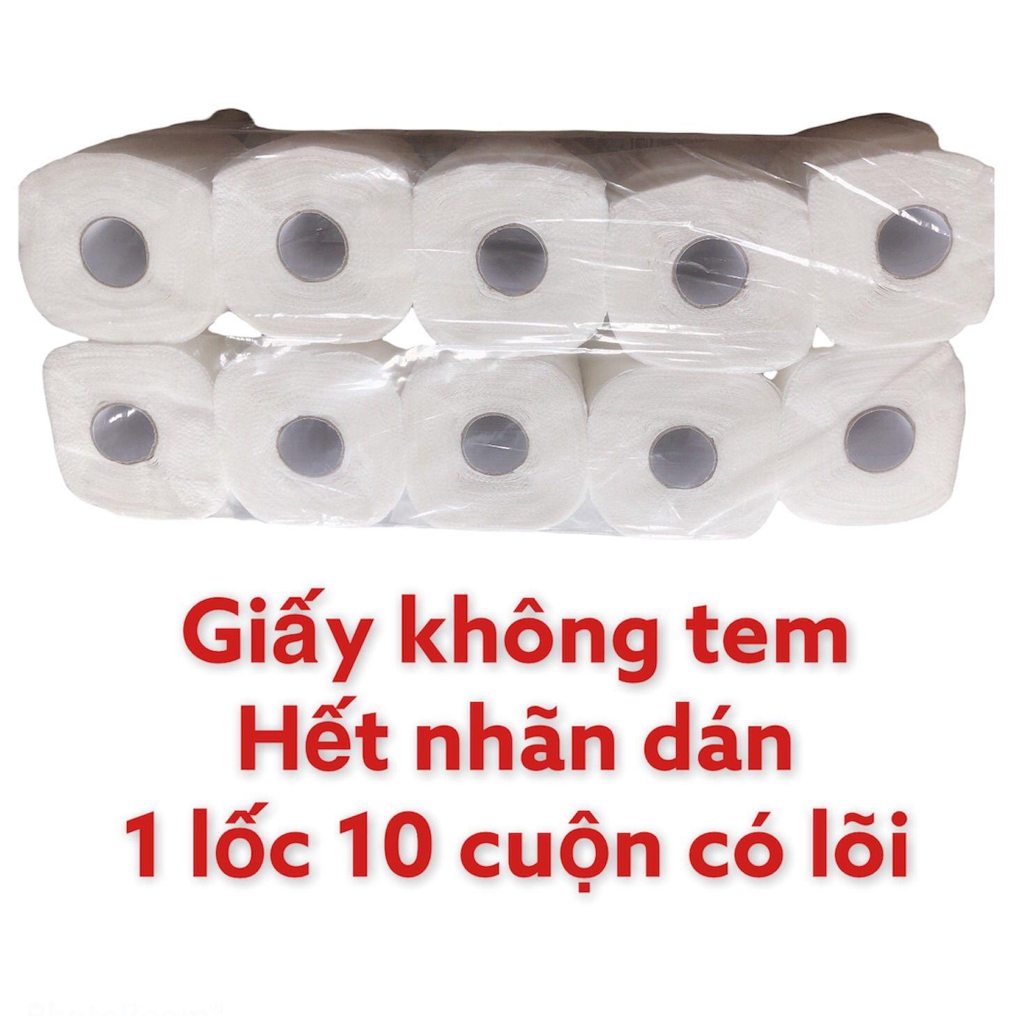 [HCM]giấy vệ sinh thái lan gia nguyen 1 lốc 10 cuộn có lõi