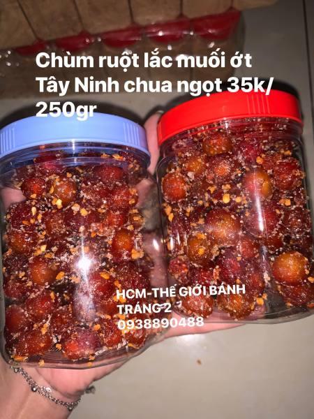 Hủ 250gr chùm ruột lắc muối ớt Tây Ninh siêu cayyy siêu ngon!