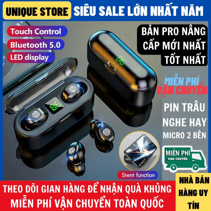 Tai Nghe Bluetooth Amoi F9 Phiên Bản Pro Quốc Tế Tai Nghe Không Dây F9 Công Nghệ Bluetooth 5.0 Kén Sạc 2000 Mah Kiêm Sạc Dự Phòng Nút Điều Khiển Cảm Ứng chống Thấm Nước Chống Bụi Dùng Cho Mọi Điện Thoại
