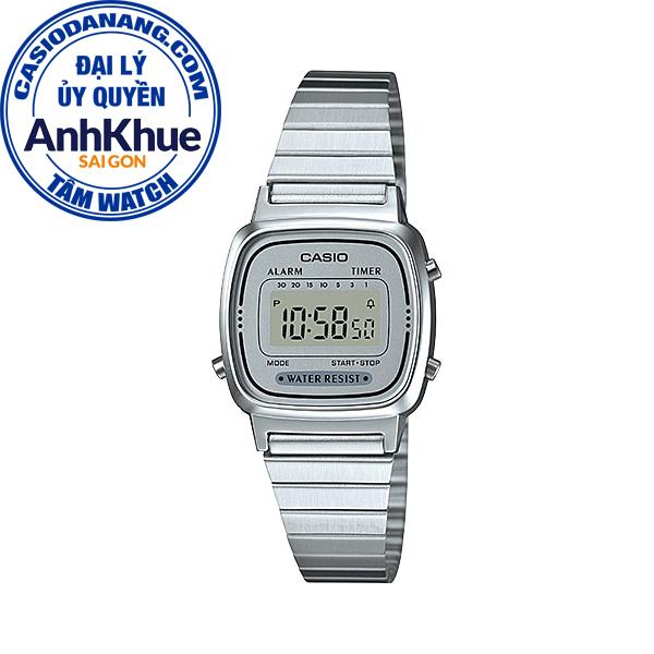Đồng hồ nữ dây kim loại Casio Standard chính hãng Anh Khuê LA670WA-7DF