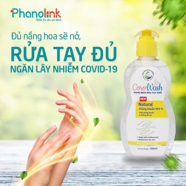 Dung Dịch Rửa Tay Khô Corowash 200ml