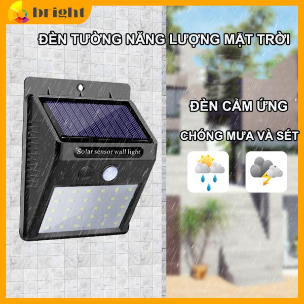 Đèn led cảm biến hồng ngoại năng lượng mặt trời Solar sensor Wall light 20 30 Led siêu sáng tự động 3 chế độ sáng